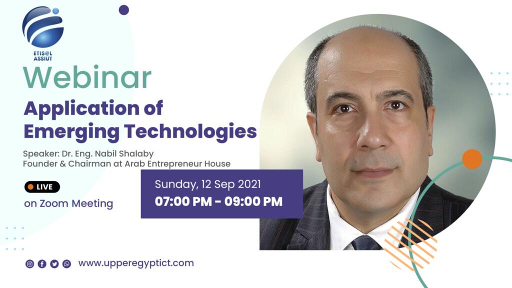 Application of Emerging Technologies – Webinar